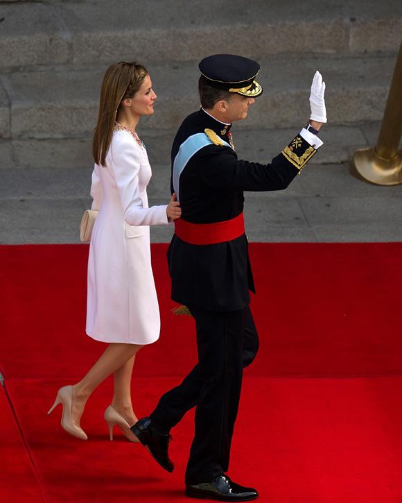 Los primeros pasos de los nuevos reyes de espa a - Casa de los reyes de espana ...