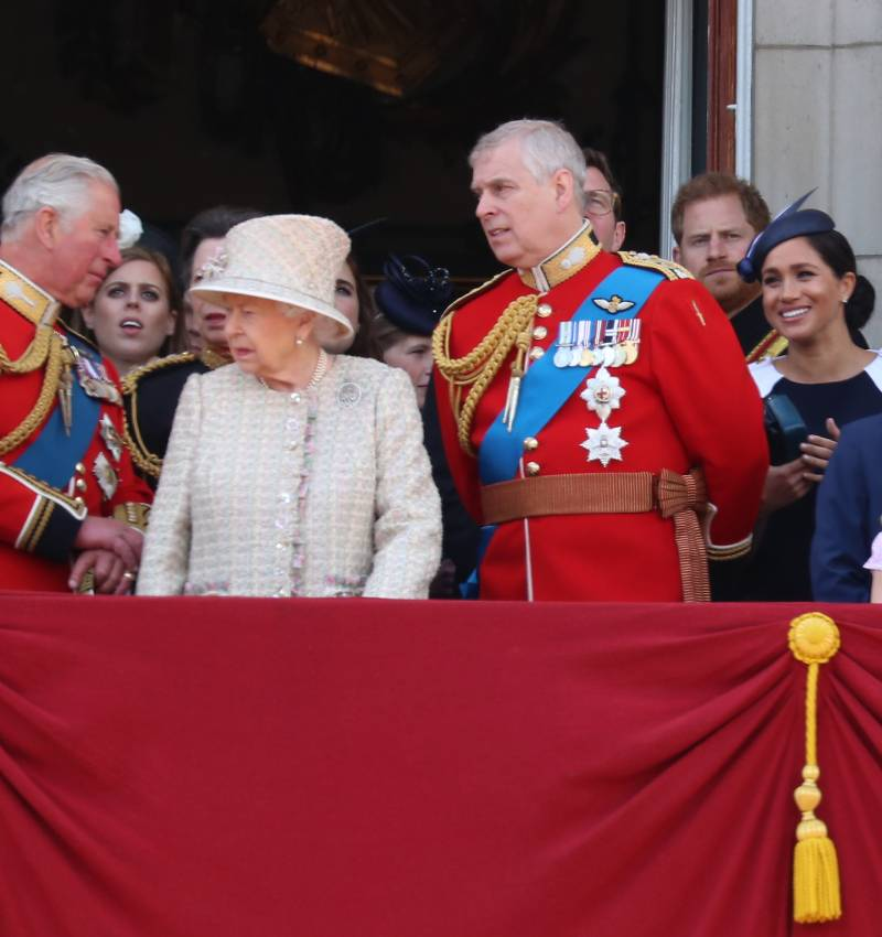 La Familia Real británica en el Trooping The Colour