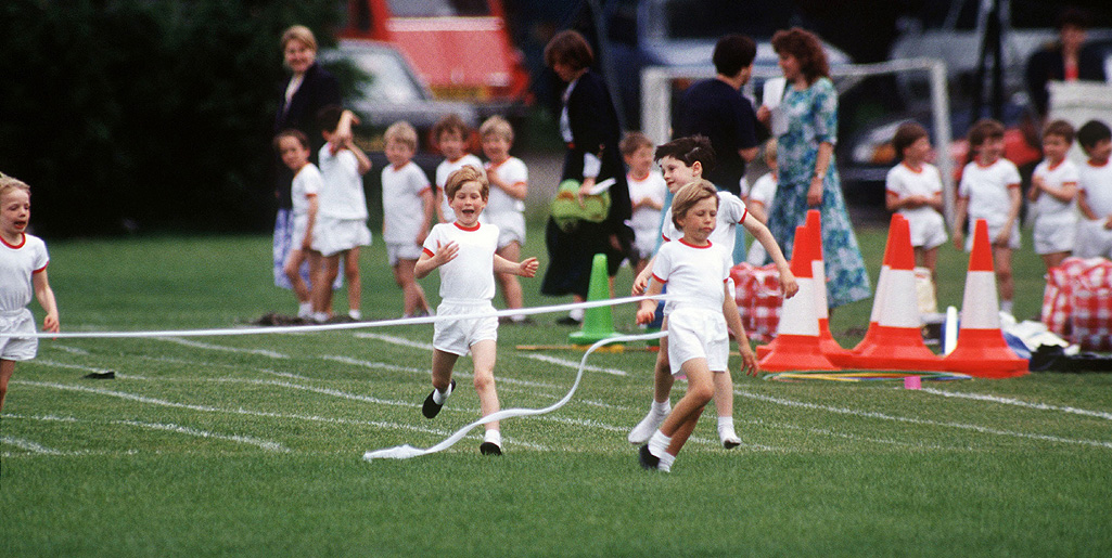 Royal baby countdown: Watch Prince Harry and Princess Diana taking part in school field day
